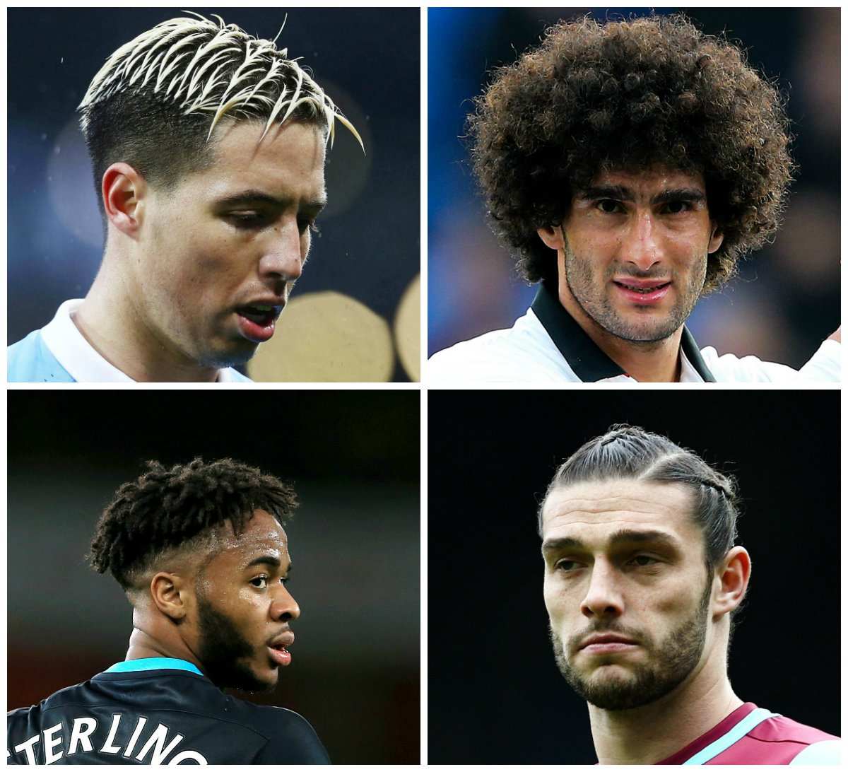 Best Premier League Hairstyle 2015-16 nasri fellaini sterling andy caroll