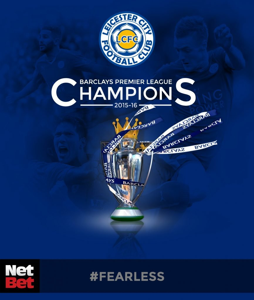 Leicester City Champions 2015-16 - Netbet - BIG