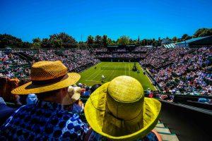 Illustration chapeau / vue generale court - 30.06.2015 - Wimbledon 2015 Photo : van den Berg / Photoshot / Icon Sport