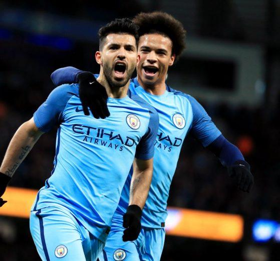 17-03-2017 - Sergio Augero Leroy Sane - Manchester City PA Images Icon Sport