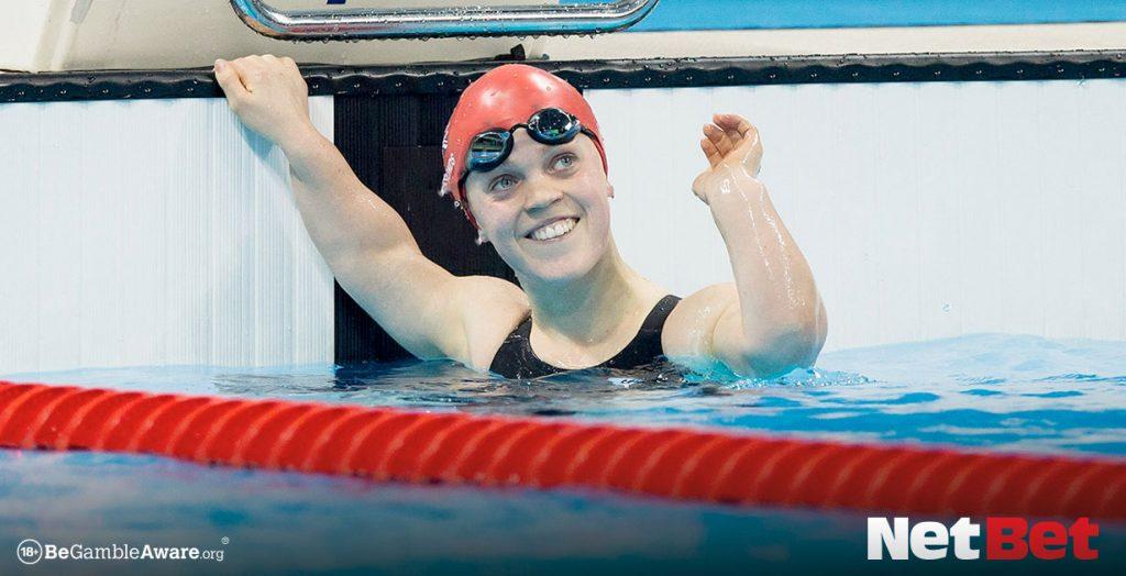 Ellie Simmonds wins a race