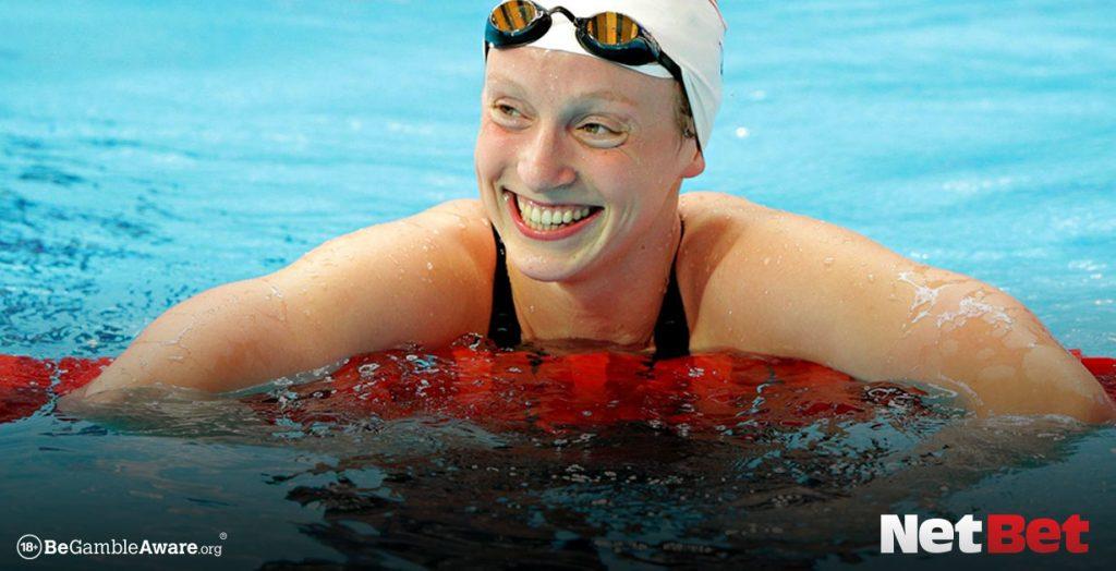 Katie Ledecky beats the world record