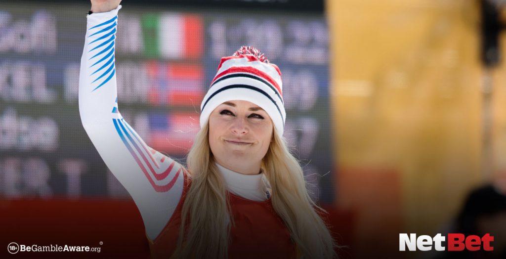 Lindsey Vonn in ski gear