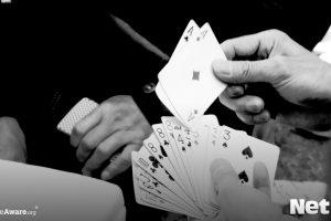 playing british card game
