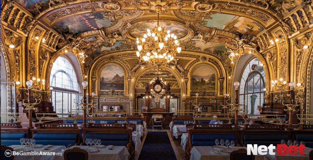 Le Train Bleu in Monte-Carlo is an incredible casino restaurant