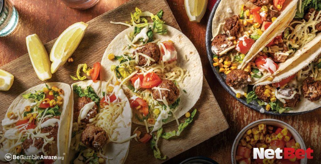 Another popular Super Bowl snack: Tex-Mex tacos